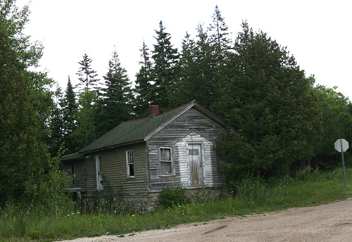 An old home on a rural backroad